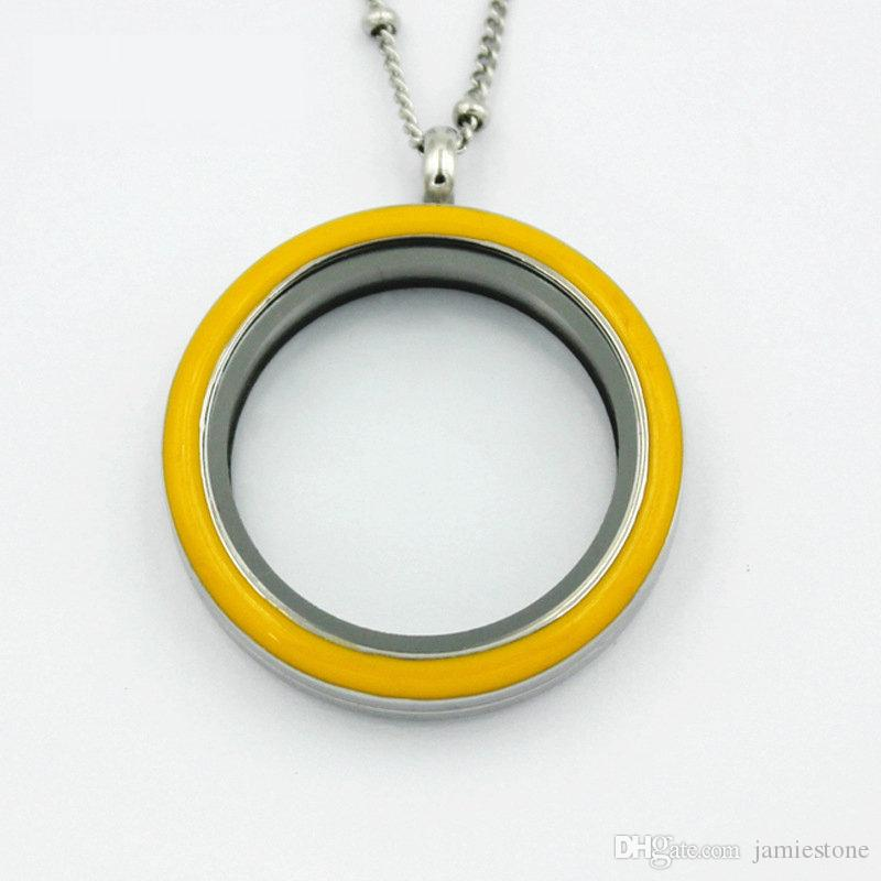 Yellow Plain Locket / 30mm