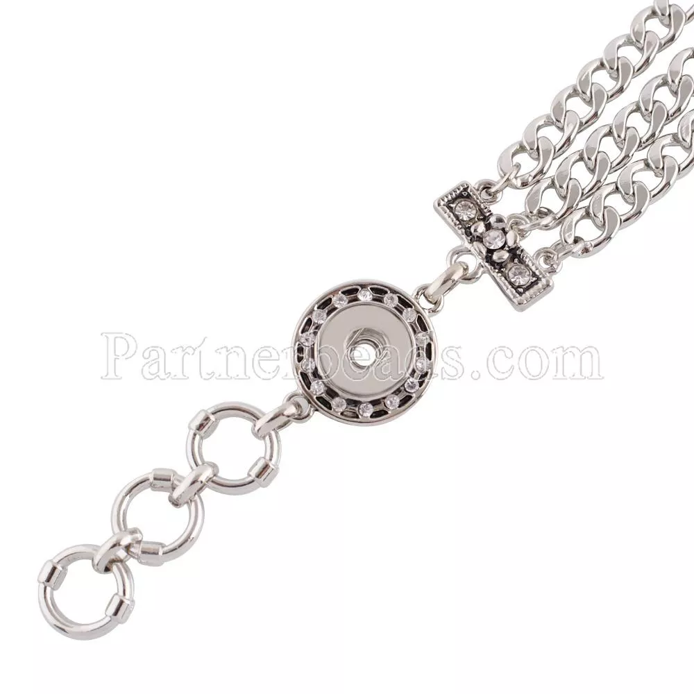 Petite - Metal bracelet with chain strap
