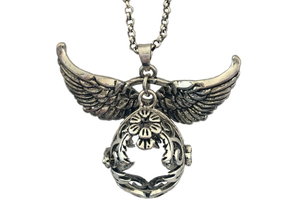 Silver-Plated Necklace, with wings