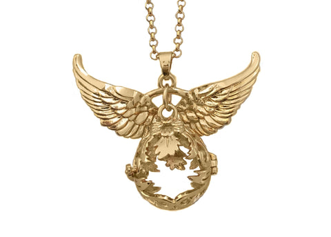 Gold-Plated Necklace, with wings