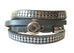 Petite leather wrap around bracelet with magnetic clasp