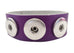 Classic soft grain 3-snap leather bracelet, Purple