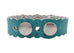 Classic soft-grain laser cut bracelets, Light Blue