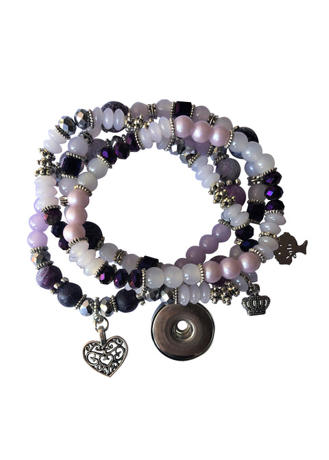Classic - purple beaded bracelet