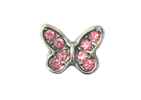 Pink diamante butterfly
