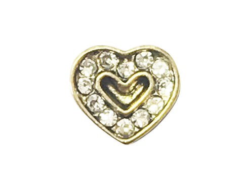 Gold diamante heart