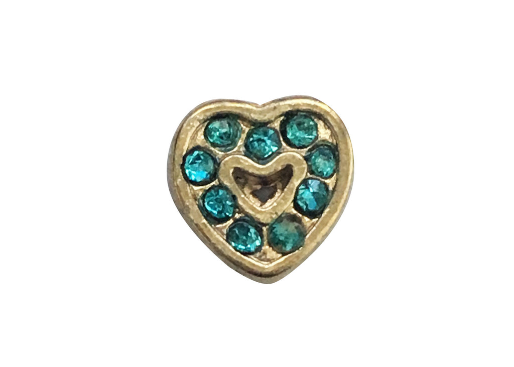 Blue on gold heart