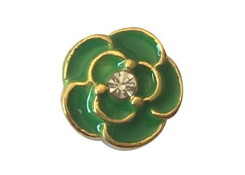 Green flower on gold