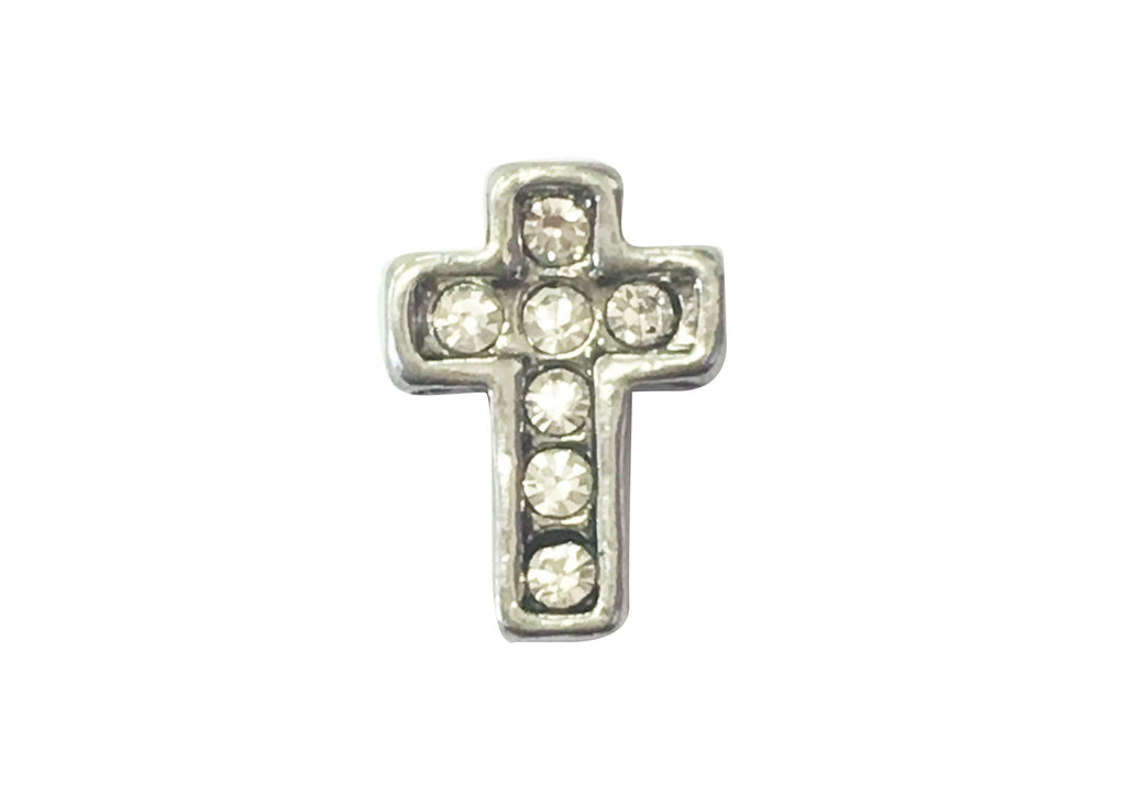 Silver cross with diamante