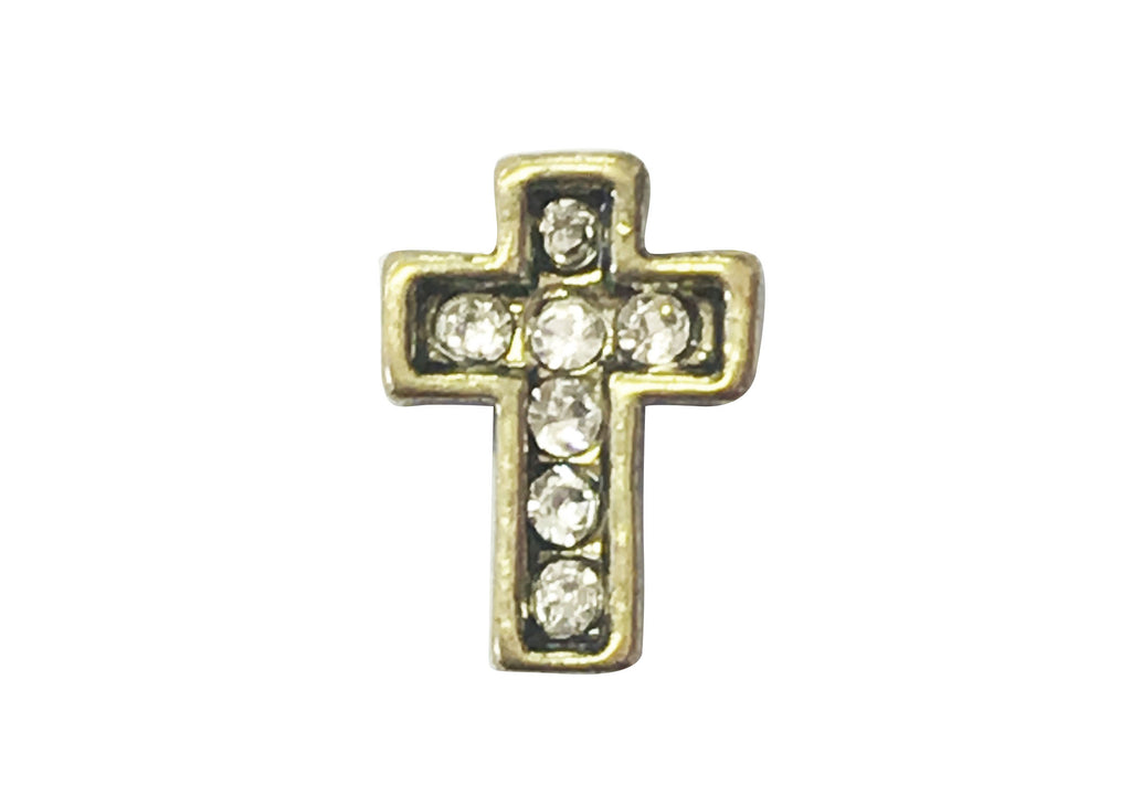 Gold cross with diamante