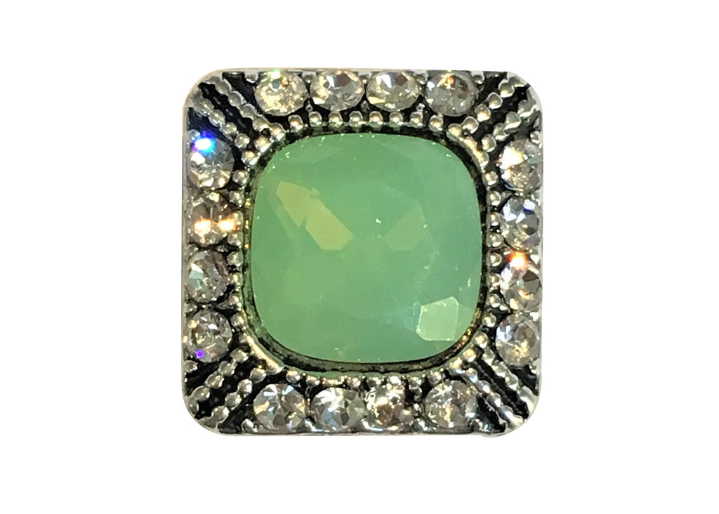 Petite - Green Diamante Square