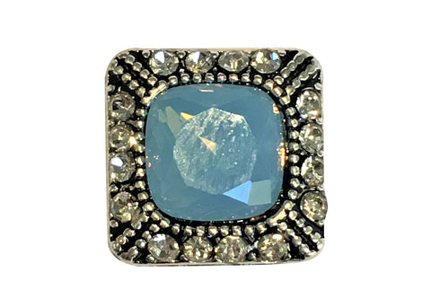 Petite - Blue Diamante Square