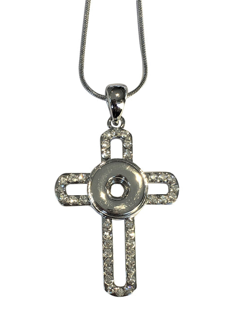 Petite Diamante Cross Necklace