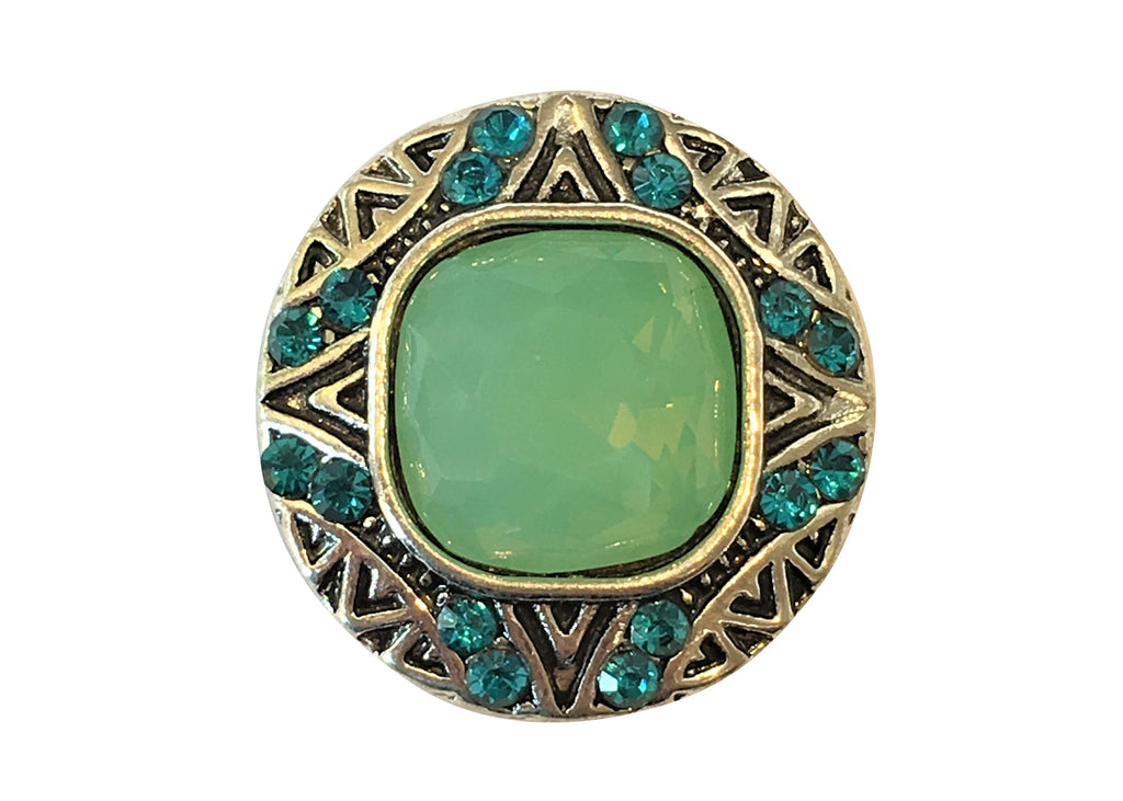 Classic - Green diamante with blue stones