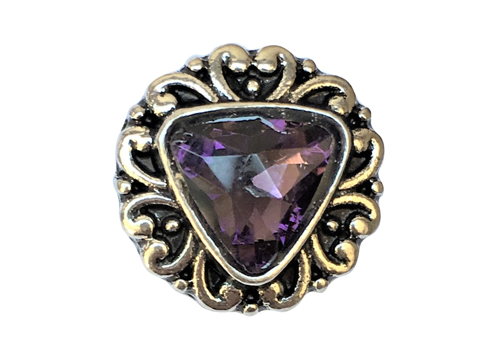 Petite - Purple Diamante Triangle