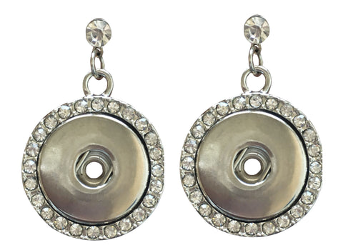 Classic large stud earrings with diamante