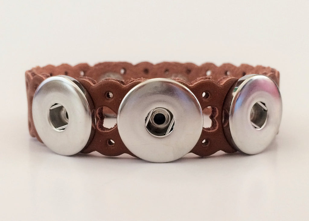 Classic soft-grain laser cut bracelets, Tan