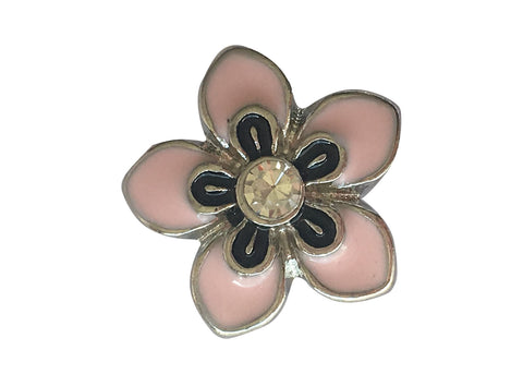 Petite - Pink flower with diamante