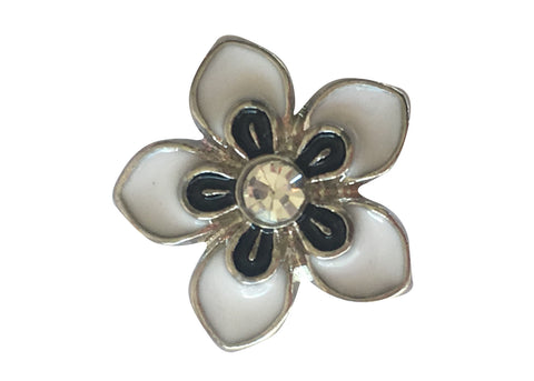 Petite - White flower with diamante