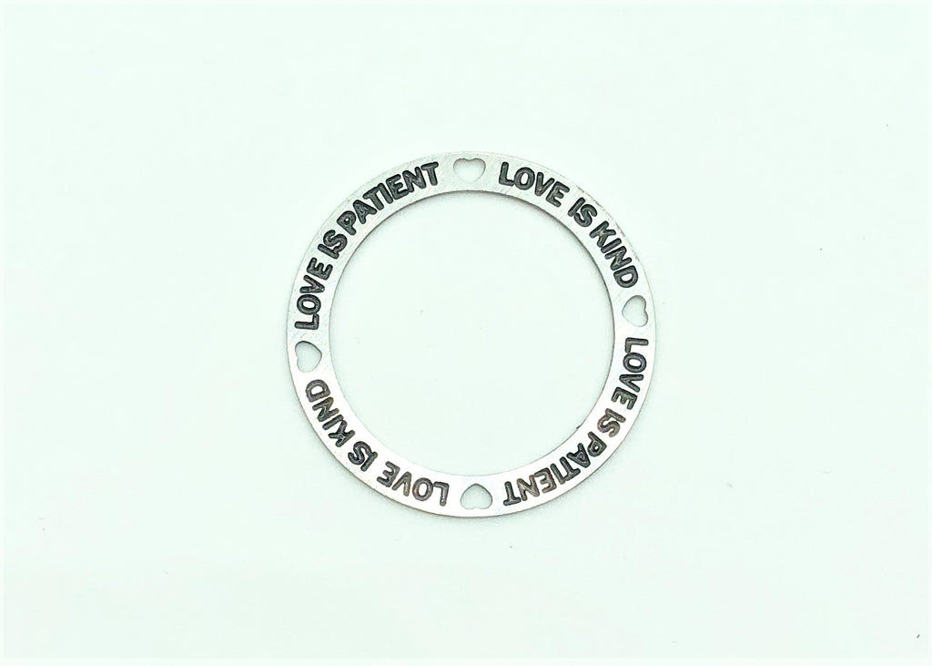 Silver plate / Love is patient, Love is Kind