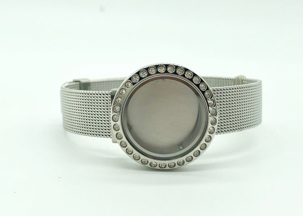 Memory Locket S/S Mesh Bracelet / 25mm