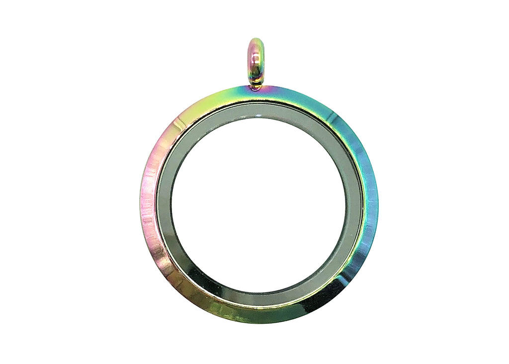 Rainbow Plain Pendant / 25mm
