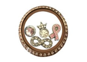 Rose Gold Cancer Awareness Set