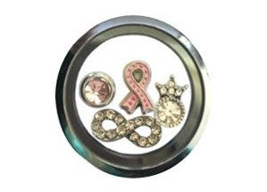 Silver Cancer Awareness Set