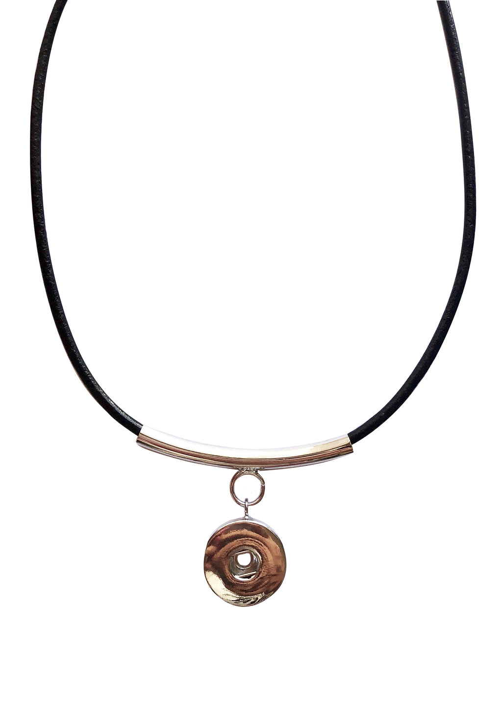 Classic - Leather and Plated Necklace