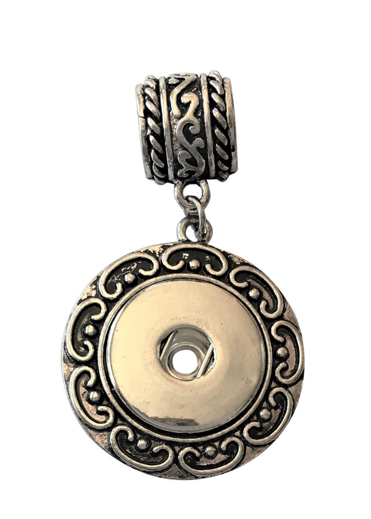 Classic ornate pendant with hole for thick chain