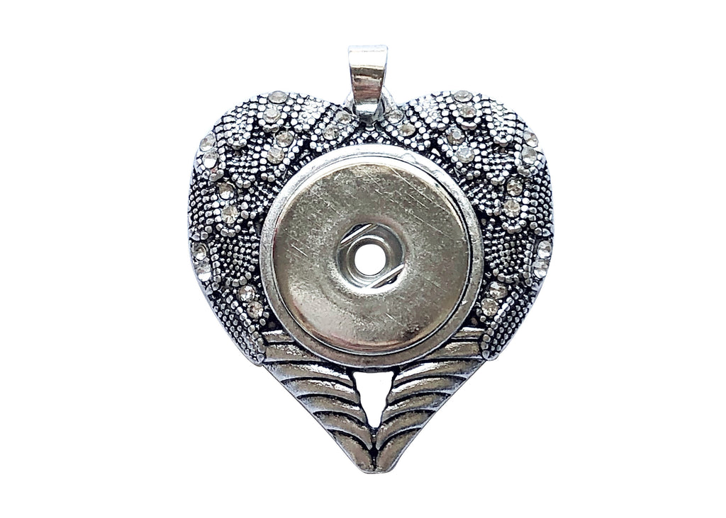 Classic - Intricate Heart with Diamante Pendant
