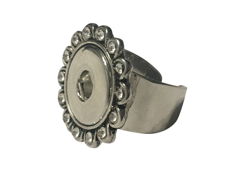 Classic - Flower adjustable solid ring