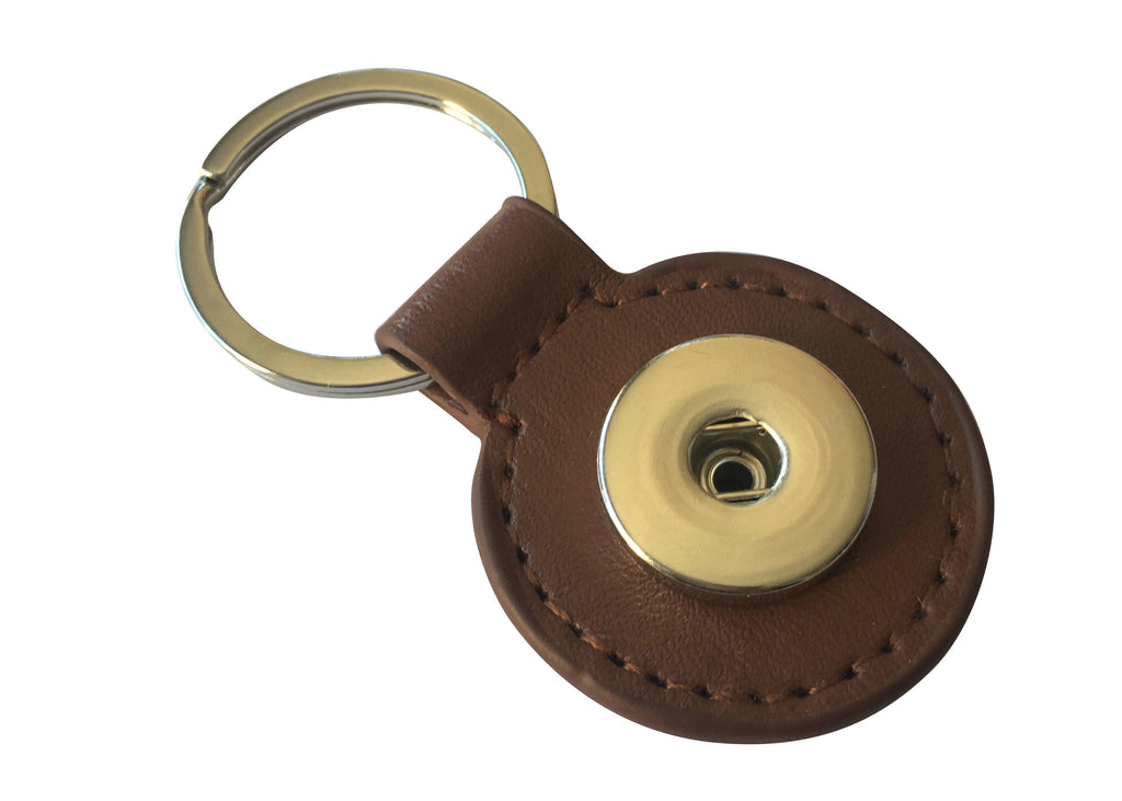 Classic - Real leather key chain, Brown