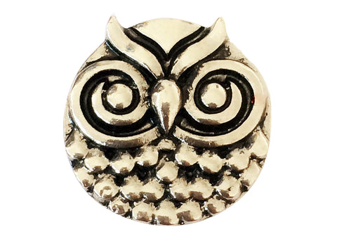 Classic  Snap - Silver Ornate Owl