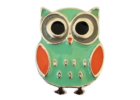 Classic Snap - Orange and Green Owl