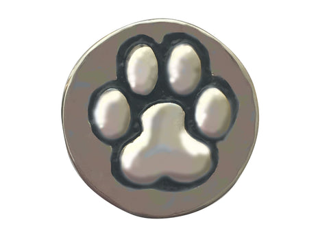 Classic Snap - Silver Paw Print