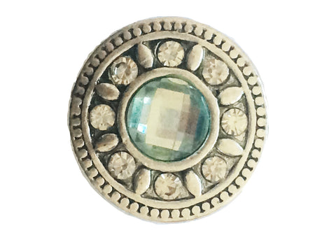 Classic - Light blue stone with intricate border