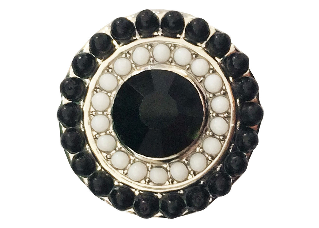 Classic - Beaded black and white