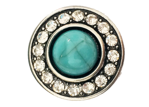 Classic - Teal with diamante border