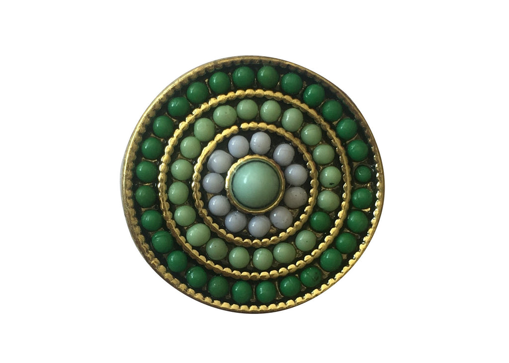 Classic - Green beaded on gold