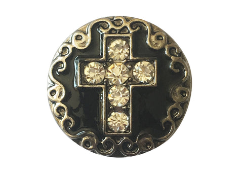 Classic - Black Cross with Diamante