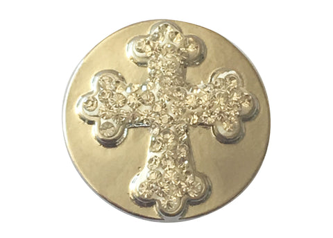 Classic - Sparkly Cross on Silver