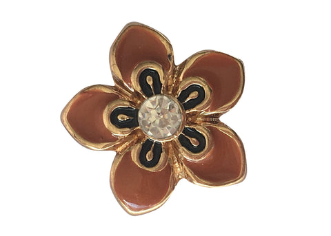 Petite - Gold flower with diamante