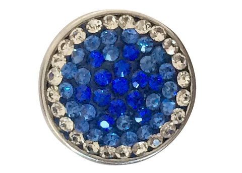 Petite - Blue and diamante outside ring