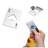 Stainless Steel Casino Card Bottle Opener Offer