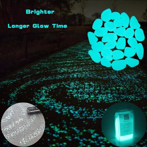 Glow-In-The-Dark Garden Pebbles (100 pcs)