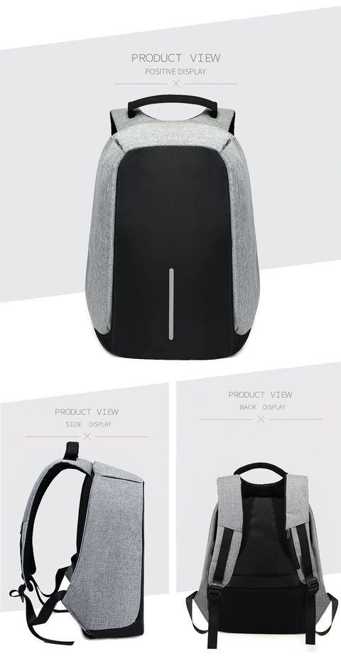Anti-Theft Backpack with Built-in USB Charge Port