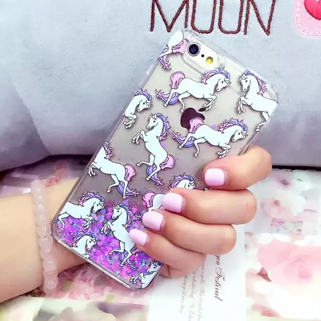 Unicorn Glitter Sand iPhone Case