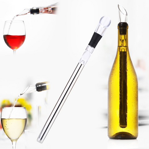 Instant wine chiller pourer gell