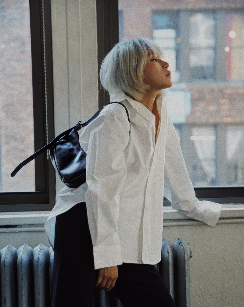 #SlowLife Oversized Button Down Shirt
